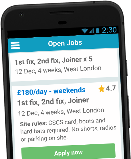 Screenshot of Jobhawk app - Jobs screen
